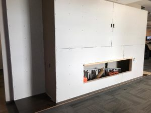 Drywall, Fireplace construction