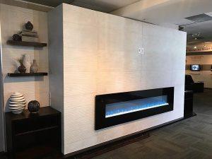 Panoramic fireplace installed