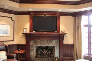 Custom Fireplace, HDTV