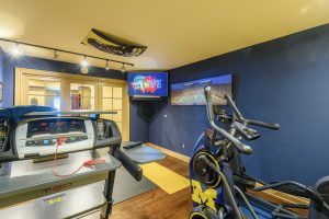 Exercise Room, UofM, TV