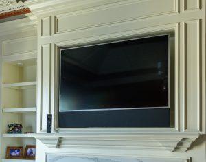 Paulson's AV installation. Video, shades, security