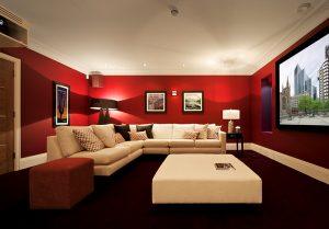 Luxurious cinema room