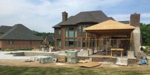 Outdoor construction, cabana