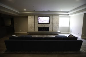 Media room, built-in TV, OLED