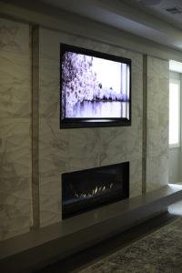 Linear Fireplace, OLED, Custom, Design