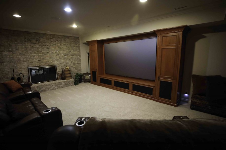 "115"" 4K projection with Dolby Atmos"